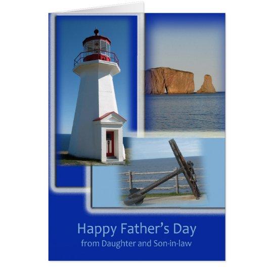 Der glückliche Vatertag - von der Tochter und vom Grußkarte