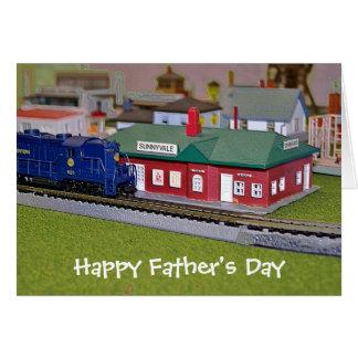 Der glückliche Vatertag - vorbildlicher Zug Karte