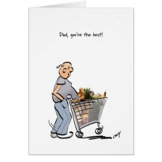 Der glückliche Vatertag zum besten Vati! Grußkarte