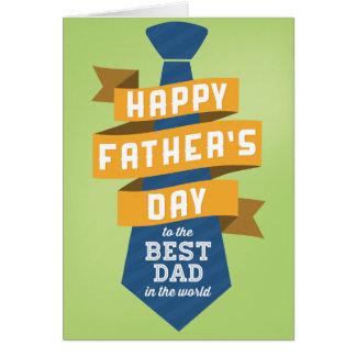 Der glückliche Vatertag zum besten Vati in der Karte