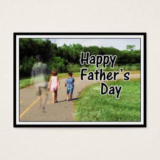 Der glückliche Vatertag zum Vati weg von Zuhause Jumbo-Visitenkarten