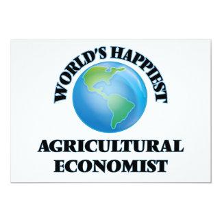 Der glücklichste Agrarwissenschaftler der Welt 12,7 X 17,8 Cm Einladungskarte