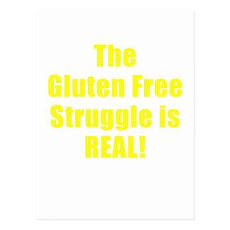 Der Gluten-freie Kampf ist wirklich Postkarte