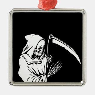 Der grimmige Sensenmann oder der Tod Silbernes Ornament