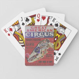 Der große amerikanische Zirkus-Freak Spielkarten