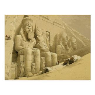 Der große Tempel von Abu Simbel, Nubia, von Postkarte