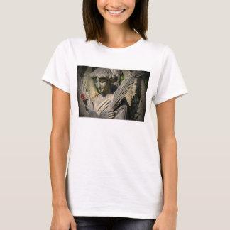 Der grundlegende T - Shirt, das Weiß, der Engel u. T-Shirt