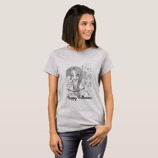 Der grundlegende T - Shirt der Frauen, Grau,