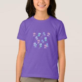 Der grundlegende T - Shirt der Mädchen mit Quallen