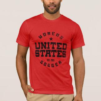 Der grunge-Männer Staat-Frauen der Fußballder T - T-Shirt