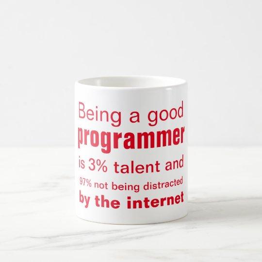 Der gute Programmierer Kaffeetasse