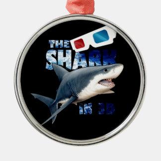 Der Haifisch-Film Silbernes Ornament