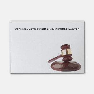 Der Hammer-Post-Itanmerkungen des Richters Post-it Klebezettel