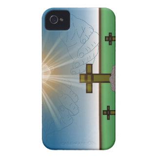 Der Hand des Gottes über dem Kreuz von iPhone 4 Etuis