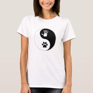 Der HandToPaw der Frauen Schablonen-T - Shirt