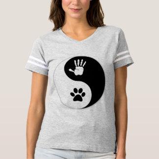 Der HandToPaw Yin-Yang der Frauen Fußball-Shirt T-shirt