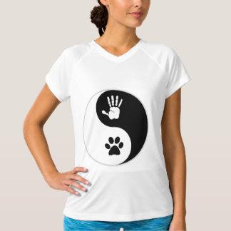 Der HandToPaw Yin-Yang der Frauen T-Shirt