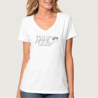 Der Hanes der Frauen Vhals T-Stück T-Shirt