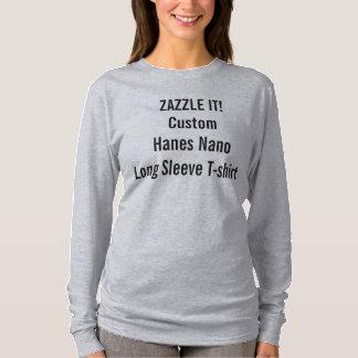 Der Hanes der kundenspezifischen Frauen langer T-Shirt
