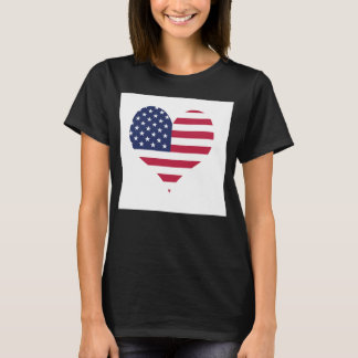 Der Hanes der USA-Flaggen-Frauen T - Shirt