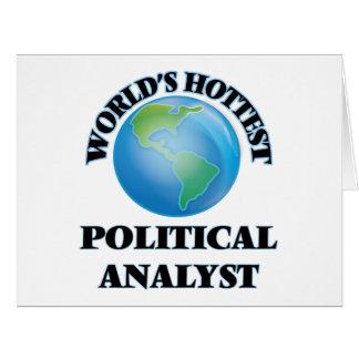 Der heißeste politische Analyst der Welt Grußkarte
