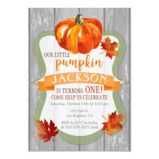 Der Herbst-Geburtstags-Einladung wenigen Karte