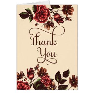 Der Herbst und Fall mit Blumen sind, danken Ihnen Karte