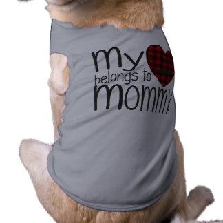 Der Hipster-Herz der Mama (grau) Ärmelfreies Hunde-Shirt