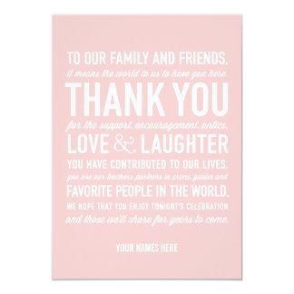 Der Hochzeits-Empfang danken Ihnen Karte