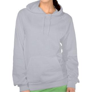 Der Hoodie der Frauen - silbernes Logo mit