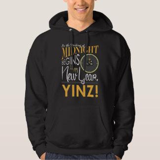 Der Hoodie guten Rutsch ins Neue Jahr Yinz Männer