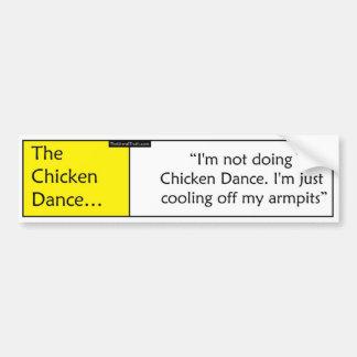 Der Huhn-Tanz Autoaufkleber