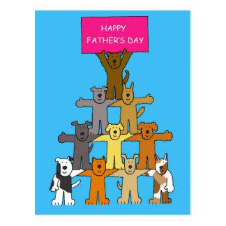 Der Hund-Glückliche Vatertag Postkarten