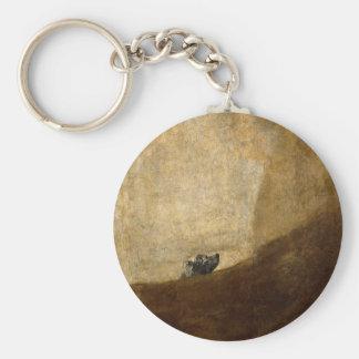 Der Hund (schwarze Malereien) durch Francisco Goya Schlüsselanhänger