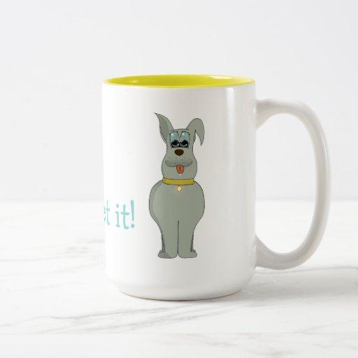 Der Hund Teetasse