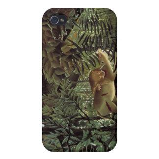 Der hungrige Löwe - Henri Rousseau iPhone 4 Etuis