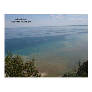 Der Huronsee in Mackinac Insel, MI Postkarte