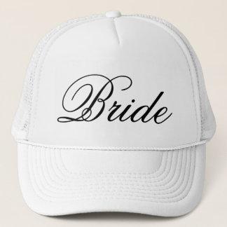 Der Hut des Braut-Hochzeits-Fernlastfahrers Truckerkappe