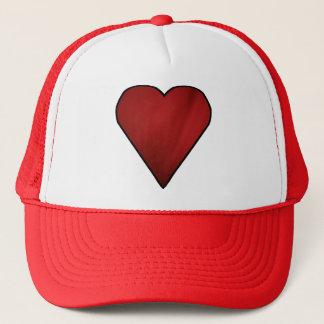 Der Hut des Herz-Fernlastfahrers Truckerkappe