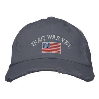 Der Irak-Kriegs-Tierarzt mit amerikanischer Flagge Bestickte Baseballkappe