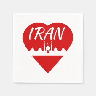 Der Iran-Liebe der Iran Papierserviette