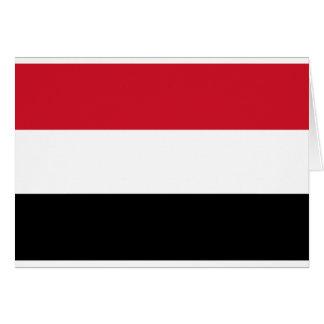 Der Jemen-Flagge Grußkarten