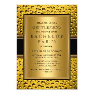 Der Junggeselle-Party-der Männer der Bier-Herren 12,7 X 17,8 Cm Einladungskarte