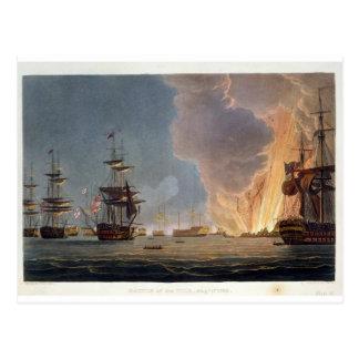 Der Kampf des Nils am 1. August 1798 graviert Postkarte