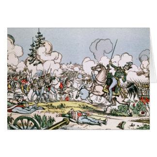 Der Kampf von Moskau, am 7. September 1812 Karte