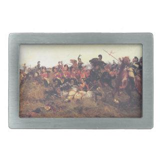 Der Kampf von Quatre BH im Jahre 1815 Rechteckige Gürtelschnallen