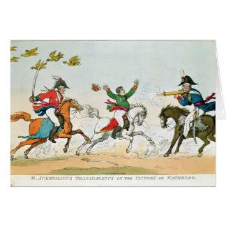 Der Kampf von Waterloo Karte