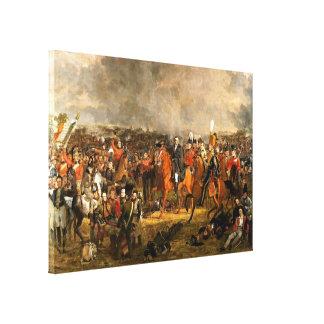 Der Kampf von Waterloo Leinwanddruck