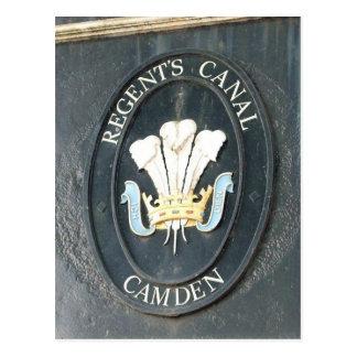 Der Kanal des Regenten - Camden-Verschluss- London Postkarte