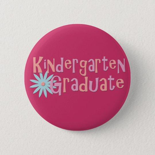 Der Kindergarten-Abschluss-Geschenke des Mädchens Runder Button 5,7 Cm